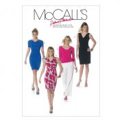 McCalls Ladies Sewing Pattern 6282 Lined Top & Dresses