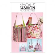 McCalls Accessories Sewing Pattern 6297 Totes & Hand Bags