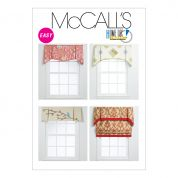 McCalls Homeware Sewing Pattern 6299 Window Valance Curtains