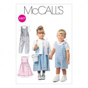 McCalls Toddlers Sewing Pattern 6304 Dresses, Dungarees, Shirts & Cardigan Tops