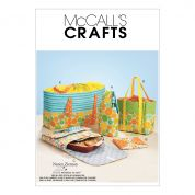 McCalls Crafts Sewing Pattern 6338 Carriers, Hot Pad & Picnic Totes