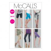 McCalls Ladies Easy Sewing Pattern 6360 Leggings In 4 Lengths