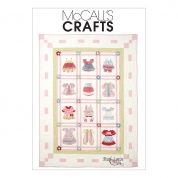 McCalls Crafts Sewing Pattern 6412 Dimensional Patchwork Quilt
