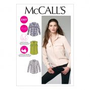 McCalls Ladies Easy Sewing Pattern 6436 Shirts Tops with Cup Sizes