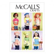 McCalls Crafts Sewing Pattern 6451 Doll Clothes, Bag, Towel & Cat