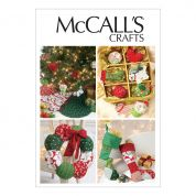 McCalls Crafts Sewing Pattern 6453 Christmas Ornaments, Wreath, Tree Skirt & Stocking