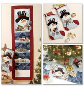 McCalls Crafts Sewing Pattern 6454 Christmas Stocking, Runner, Tree Skirt & Card Holder