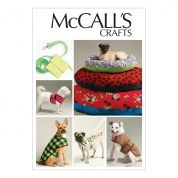 McCalls Pets Easy Sewing Pattern 6455 Dog Bed In 3