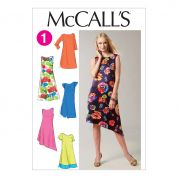McCalls Ladies Easy Sewing Pattern 6465 Loose Fit Summer Dresses