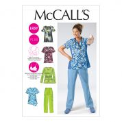 McCalls Ladies Easy Sewing Pattern 6473 Uniforms Tops & Pants