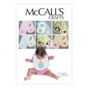 McCalls Baby Easy Sewing Pattern 6478 Bibs & Burp Cloths