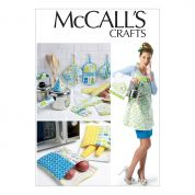 McCalls Homeware Easy Sewing Pattern 6479 Apron, Towel, Bags & Potholders