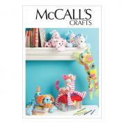 McCalls Crafts Sewing Pattern 6485 Stuffed Animal Toys