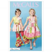 McCalls Childrens Sewing Pattern 6497 Patchwork Top, Dress & Pants