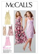 McCalls Ladies Sewing Pattern 6508 Lined Evening Dresses