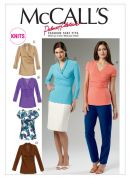 McCalls Ladies Sewing Pattern 6513 Close Fit Jersey Tops