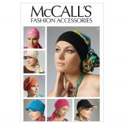McCalls Ladies Easy Sewing Pattern 6521 Headband, Head Wraps & Hats