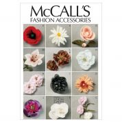 McCalls Crafts Sewing Pattern 6523 Fabric Flowers