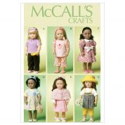 McCalls Crafts Sewing Pattern 6526 Doll Clothes Complete Wardrobe