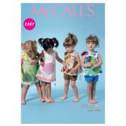 McCalls Baby & Toddlers Easy Sewing Pattern 6541 Top, Dress, Shorts & Appliques