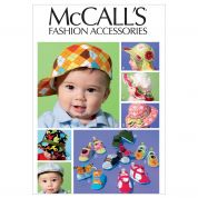 McCalls Toddlers Sewing Pattern 6575 Hats & Soft Shoes