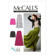 McCalls Ladies Sewing Pattern 6608 Skirts in 4 Styles