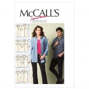 McCalls Ladies & Mens Sewing Pattern 6613 Long & Short Sleeve Shirts