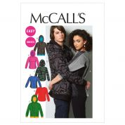 McCalls Ladies & Men's Easy Sewing Pattern 6614 Tops & Jackets