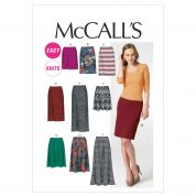 McCalls Ladies Easy Sewing Pattern 6654 Skirts In 7 Lengths