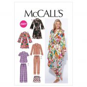 McCalls Ladies Easy Sewing Pattern 6659 Pyjamas & Dressing Gown