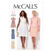 McCalls Ladies Sewing Pattern 6696 Shirt Dresses with Cup Sizes