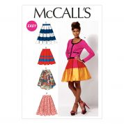 McCalls Ladies Easy Sewing Pattern 6706 Pleated Skirts & Petticoat