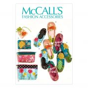 McCalls Ladies Sewing Pattern 6715 Slippers, Jewellery Pouch, Zipper Bags & Jewellery Case
