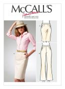 McCalls Ladies Sewing Pattern 6757 Semi-Fitted Skirt & Trouser Pants