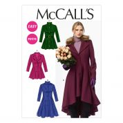 McCalls Ladies Easy Sewing Pattern 6800 Lined Coats, Belt & Detachable Collar & Hood