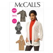 McCalls Ladies Easy Sewing Pattern 6802 Cardigans & Jackets