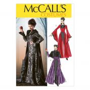 McCalls Ladies Sewing Pattern 6818 Cape & Dress Fancy Dress Costume