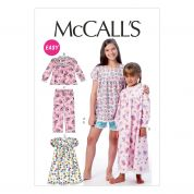McCalls Easy Sewing Pattern 6831 Childrens Tops, Gowns, Short & Pants