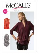 McCalls Ladies Easy Sewing Pattern 6841 Drape Front Tops