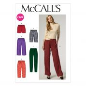 McCalls Ladies Easy Sewing Pattern 6843 Shorts & Trouser Pants