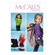 McCalls Crafts Sewing Pattern 6854 Doll Clothes, Accessories & Carrier