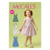 McCalls Childrens Easy Sewing Pattern 6878 Pleated Summer Dresses