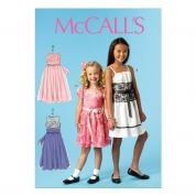 McCalls Childrens Sewing Pattern 6880 Girls Special Occasion Dresses & Sash