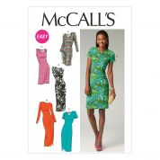 McCalls Ladies Easy Sewing Pattern 6886 Simple Jersey Dresses