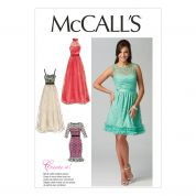 McCalls Ladies Sewing Pattern 6893 Special Occasion Evening Dresses