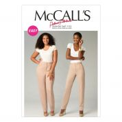 McCalls Ladies Plus Size Sewing Pattern 6901 Semi Fitted Tapered Pants