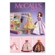 McCalls Crafts Sewing Pattern 6903 Doll Clothes, Accessories, Display Boxes & Hangers