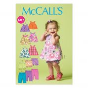 McCalls Baby & Toddler Easy Sewing Pattern 6912 Reversible Top, Dresses, Bloomers & Pants