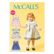 McCalls Childrens Easy Sewing Pattern 6913 Nautical Style Dresses & Tie Ends