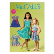 McCalls Childrens Easy Sewing Pattern 6915 Pullover Jersey Dresses